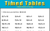 Timed Tables