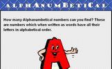 Alphanumbetical